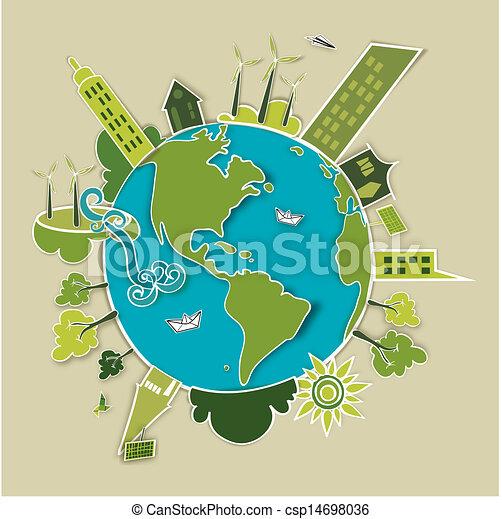 地球, 概念, 緑 - csp14698036