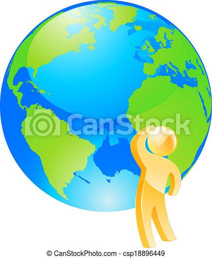 地球, 概念, 見る, 考え - csp18896449