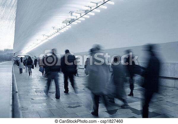 地鐵, 人群 - csp1827460