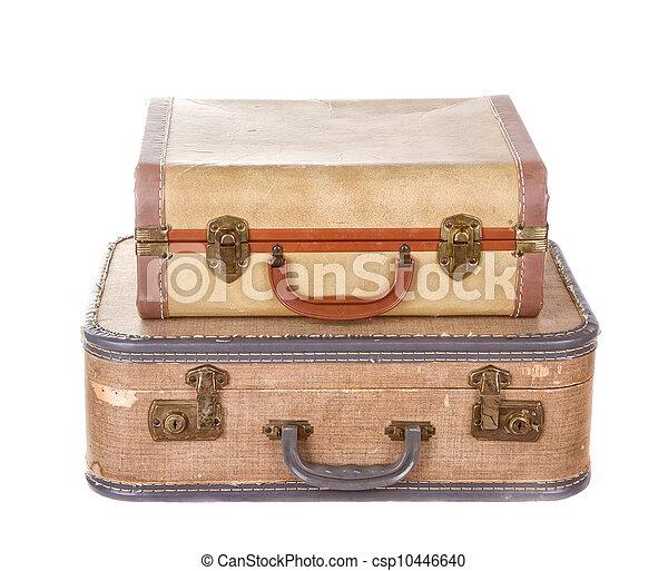 型, スーツケース, 2, 隔離された - csp10446640