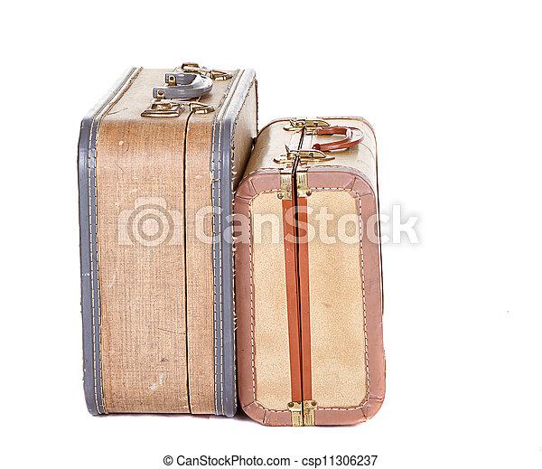 型, スーツケース, 2, 隔離された - csp11306237