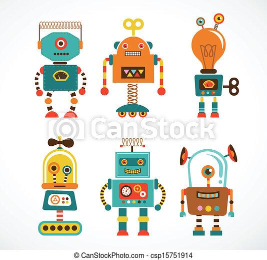 型, セット, ロボット, アイコン - csp15751914