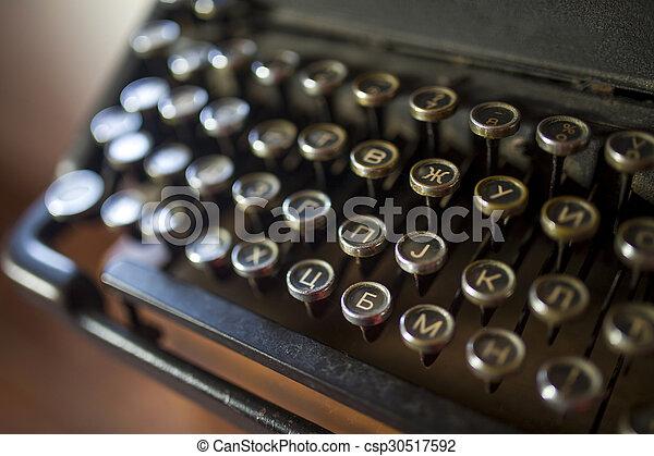 型, タイプライター - csp30517592