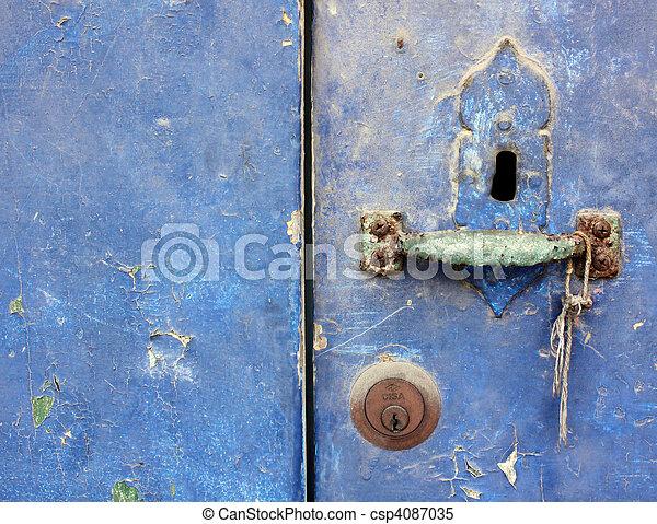 型, ドア, 穴, キー - csp4087035