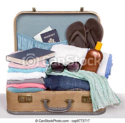 型, パックされた, スーツケース - csp9773717