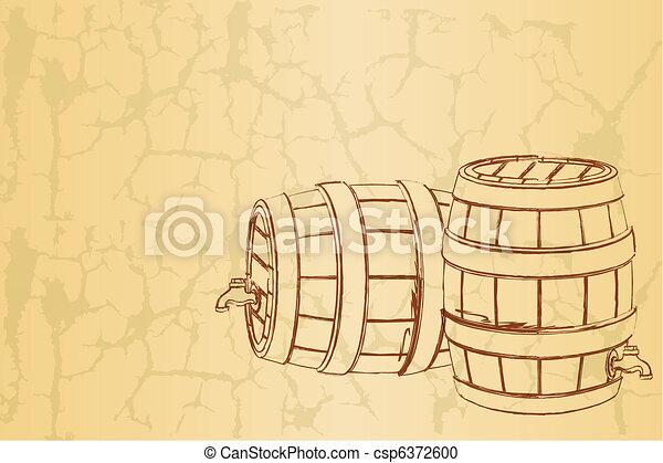 型, ビール樽, 背景 - csp6372600