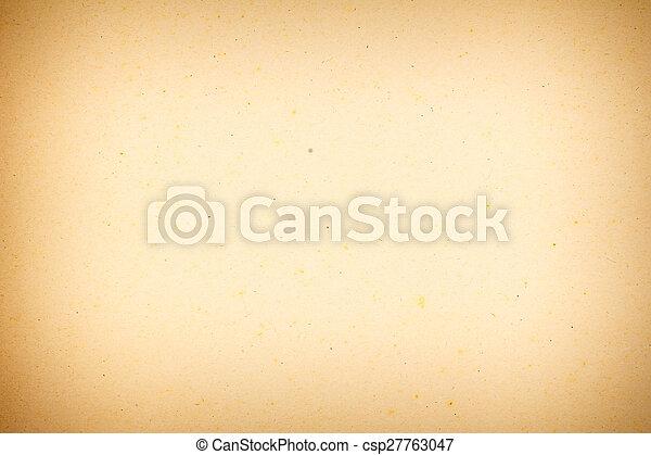 型, ペーパー, 手ざわり, yellowed - csp27763047