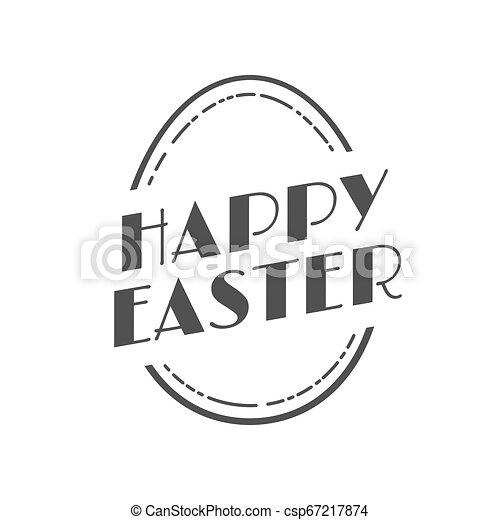 型, ラベル, イースター, 幸せ, お祝い - csp67217874