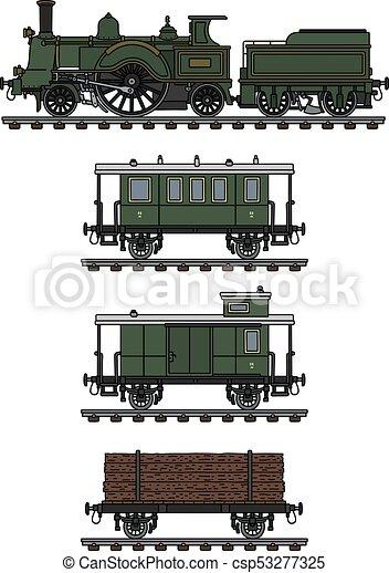 型, 列車, 蒸気 - csp53277325