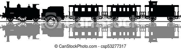 型, 列車, 蒸気 - csp53277317