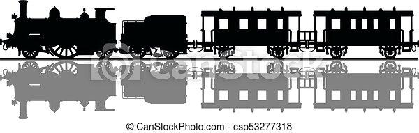 型, 列車, 蒸気 - csp53277318