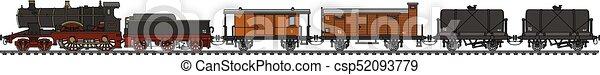 型, 列車, 蒸気 - csp52093779