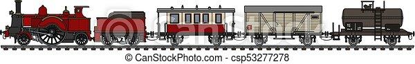 型, 列車, 蒸気 - csp53277278