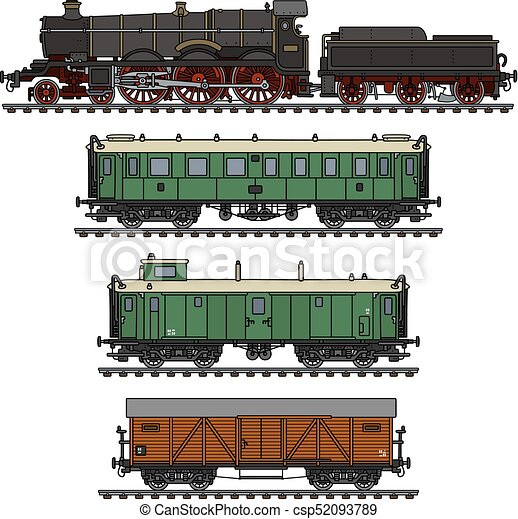型, 列車, 蒸気 - csp52093789