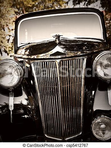 型, 古典的な 車 - csp5412767