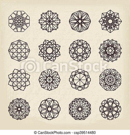 型, 幾何学的, セット, 装飾 - csp39514480