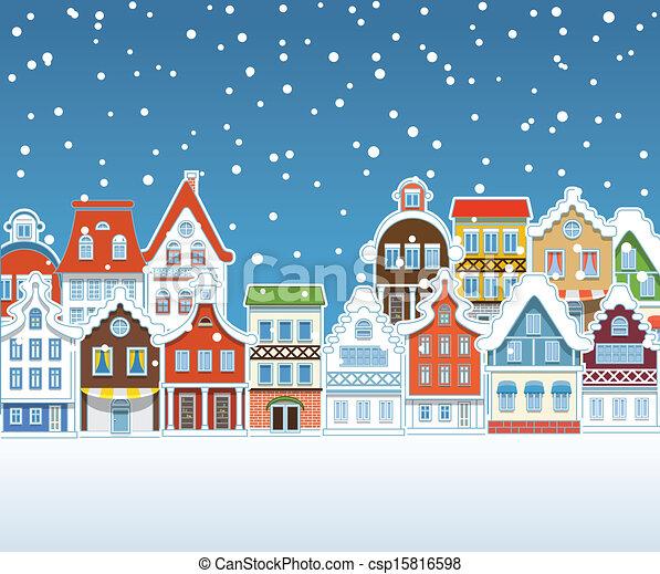 型 建物 冬 積雪量