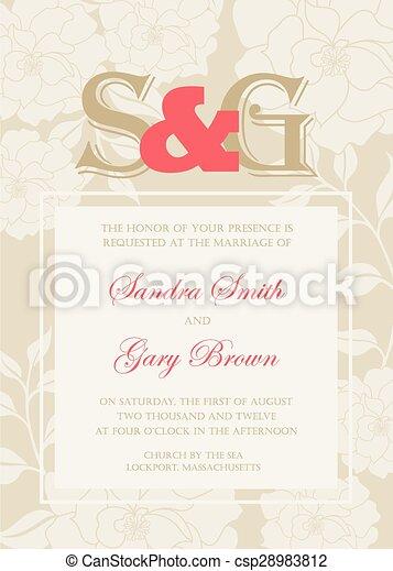 型, 招待, 結婚式 - csp28983812