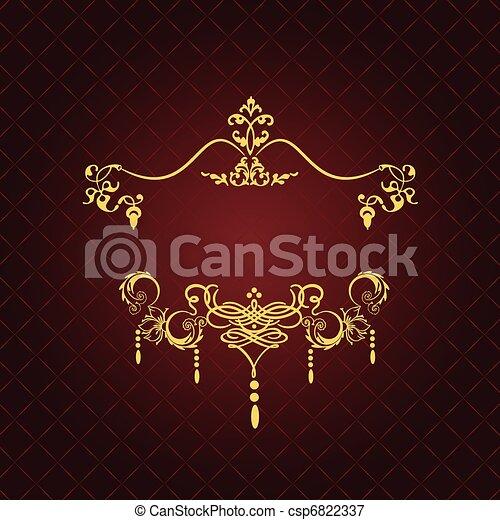 型, 招待, card., o, 結婚式 - csp6822337