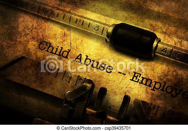 型, 濫用, タイプライター, 形態, 子供 - csp39435701
