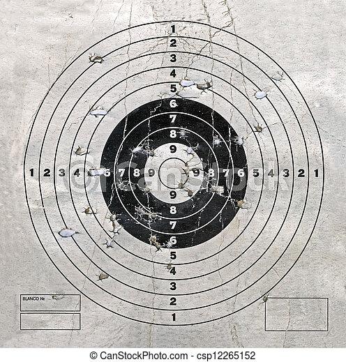 型, 穴, セキュリティー, ターゲット, 積み重ね - csp12265152