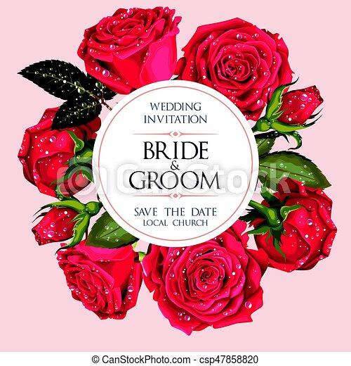 型, 結婚式の招待 - csp47858820
