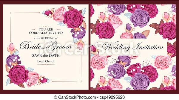 型, 結婚式の招待 - csp49295620
