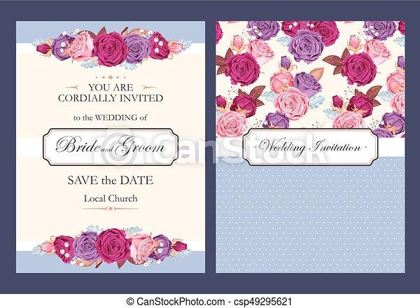 型, 結婚式の招待 - csp49295621