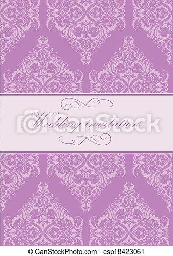 型, 結婚式の招待 - csp18423061