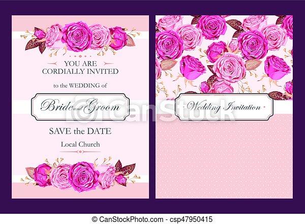 型, 結婚式の招待 - csp47950415