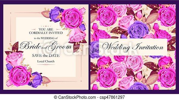 型, 結婚式の招待 - csp47861297