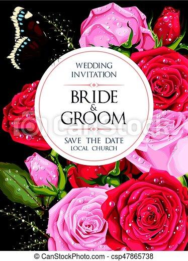型, 結婚式の招待 - csp47865738