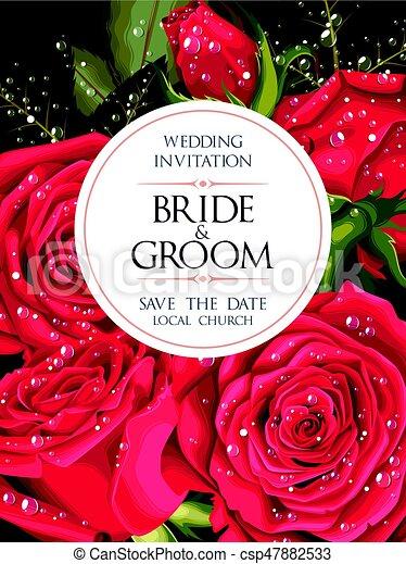 型, 結婚式の招待 - csp47882533