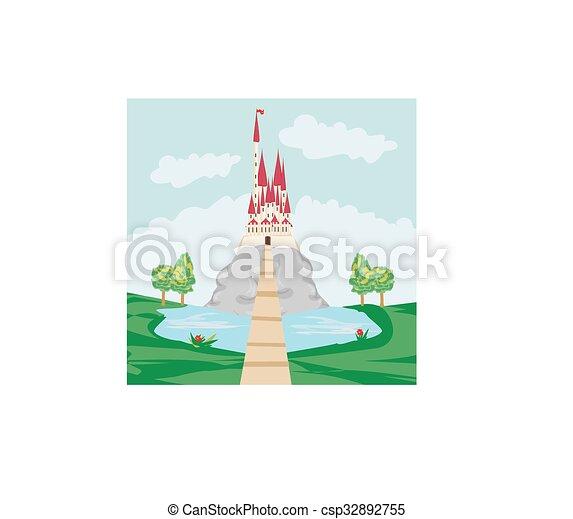 城堡, 老, 風景, 岩石 - csp32892755