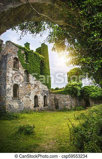 城堡, clifden - csp59553234