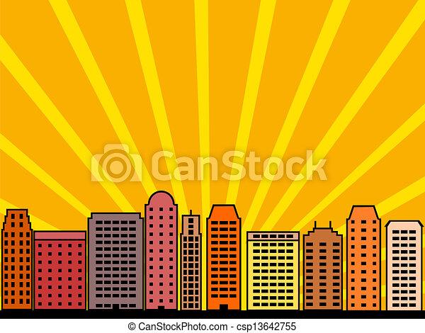 城市地平線 - csp13642755
