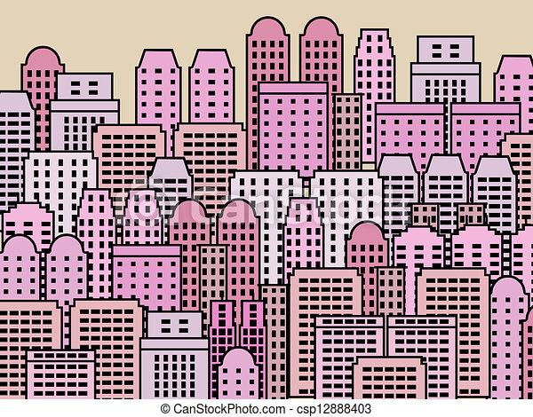 城市, 現代 - csp12888403