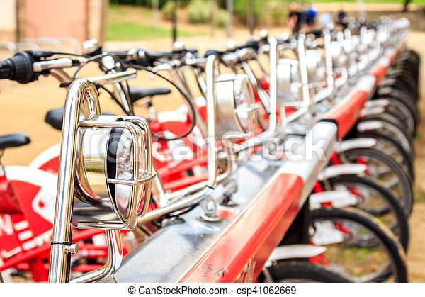 城市, 自行車, 行 - csp41062669