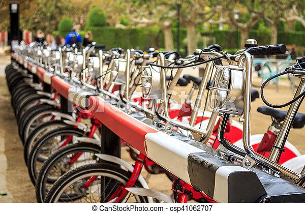 城市, 自行車, 行 - csp41062707