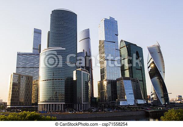城市, 莫斯科, 背景, 城市 - csp71558254