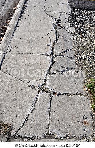 城市, 被爆裂, 人行道, 區域 - csp4556194