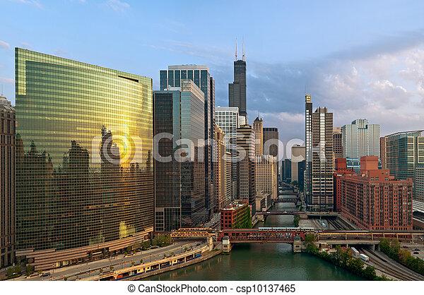 城市, chicago. - csp10137465