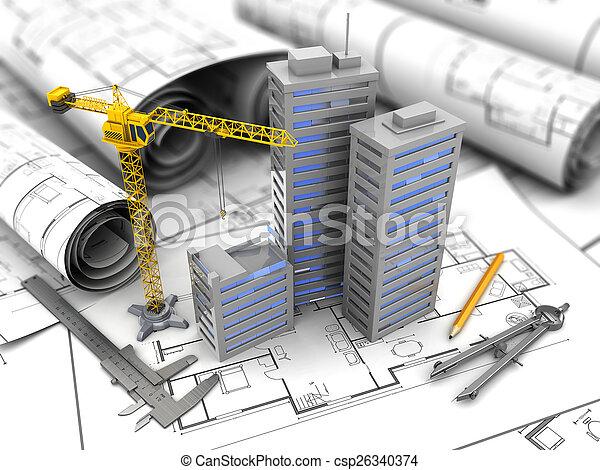 城市, constuction - csp26340374
