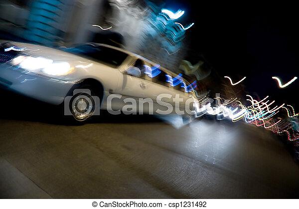 城市, limo, 夜晚 - csp1231492