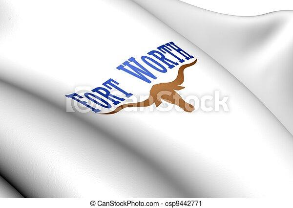 城砦, usa., 価値, 旗 - csp9442771