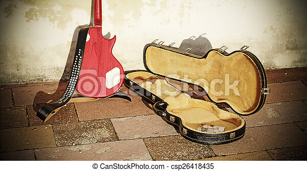 場合, ギター, コイン, ビルズ - csp26418435