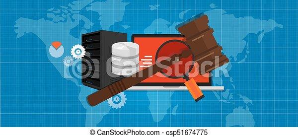 場合, 情報, 法廷, 正義, 技術, シンボル, デジタル, 法的, 犯罪, 木製である, 評決, インターネット, 小槌, 法律, ハンマー, オークション - csp51674775
