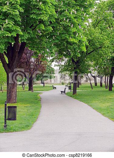 塞尔维亚, -, 公园, 贝尔格莱德, kalemegdan, 要塞 - csp8219166