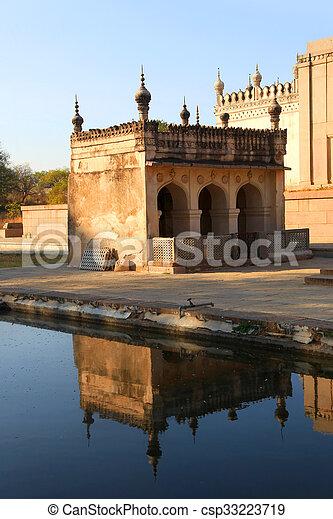墓, 歴史的, qutbshahi - csp33223719