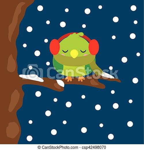 壁紙 かわいい 睡眠 季節 葉書 挨拶 イラスト 鳥 積雪量 背景